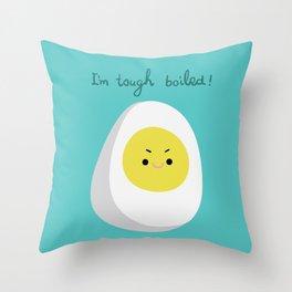 Tough Boiled Egg Throw Pillow