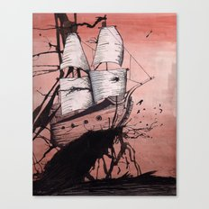 Sea of Ink Canvas Print