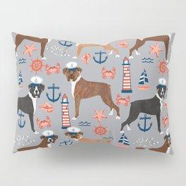Boxer nautical sailor costume custom pet portrait dog breeds by pet friendly boxers dogs Pillow Sham