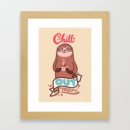 Chill Sloth Framed Art Print