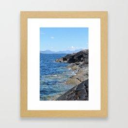 Hebrides Cliffs Framed Art Print