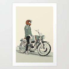 The Woman Rider Art Print