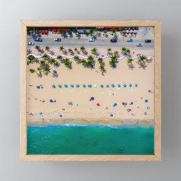 USA Photography - Miami Beach From Bird Perspective Framed Mini Art Print