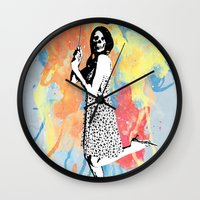 water color Wall Clocks featuring Water Color by Bill Pyle