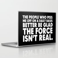 humor Laptop & iPad Skins featuring The Force  |  Jedi Humor by Silvio Ledbetter