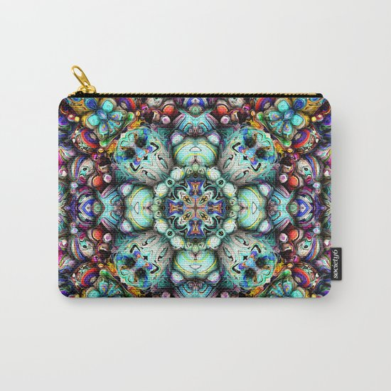 Textural Surfaces of Symmetry Carry-All Pouch
