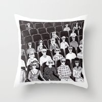movies Throw Pillows featuring The movies by Margarida Esteves