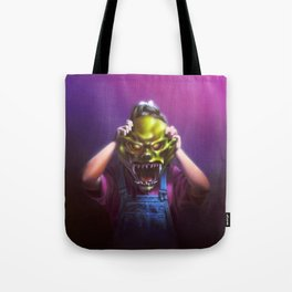 The Haunted Mask Tote Bag