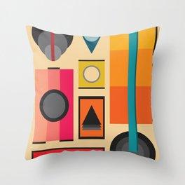 Modern Retro Design Throw Pillow