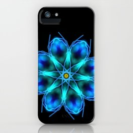 Blue mandala iPhone Case