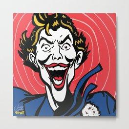 Joker | Pop Art Metal Print