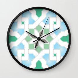Geometric Pattern - Oriental Design Pt. 6 Wall Clock