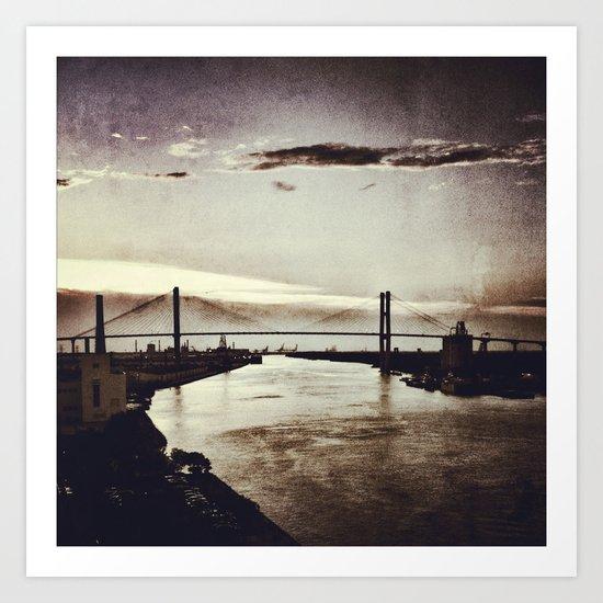 Moon River and Me Art Print