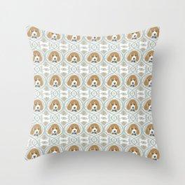 dapperific dog Throw Pillow