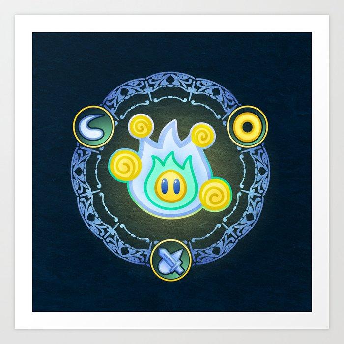 Lumina Wisp Art Print