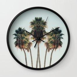 Palm Twins Wall Clock