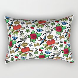 Vintage Tattoos Rectangular Pillow
