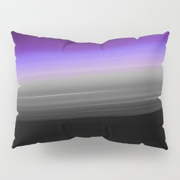 Purple Gray Black Smooth Ombre Pillow Sham