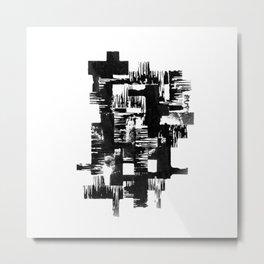 Shape Brush Metal Print