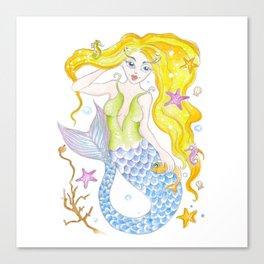 Cute Mermaid Canvas Print