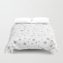 Stars silver and blush Duvet Cover