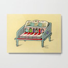 Bird Powered Harpsichord Metal Print