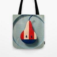 pear Tote Bags featuring Pear by Jk & Frax