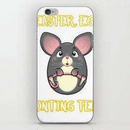 Rat Egg Easter Gift Easter Funny iPhone Skin