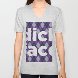 dick face Unisex V-Neck