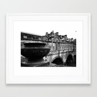 bath Framed Art Prints featuring Bath by Portia Legge