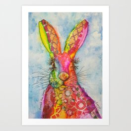 Hannah the Hare Art Print