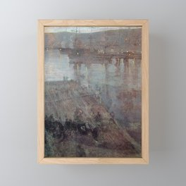 Nocturne In Blue And Gold Valparaiso Bay By James Mcneill Whistler | Reproduction Framed Mini Art Print