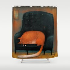 TINY MOUSE Shower Curtain