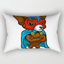 Cute dog chihuahua Fighter Lucha Libre Rectangular Pillow