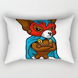 Cute dog chihuahua Fighter Lucha Libre Rectangular Pillow