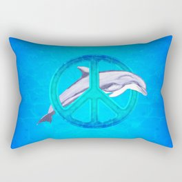 Dolphin Peace Rectangular Pillow