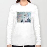 darwin Long Sleeve T-shirts featuring Charles Darwin by Michael Cu Fua