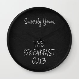 Sincerely Yours Wall Clock