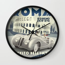 Roma Grand Prix Wall Clock