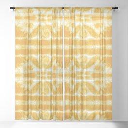 Yellow Tie Dye Twos Sheer Curtain