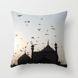 the flight home Throw Pillow