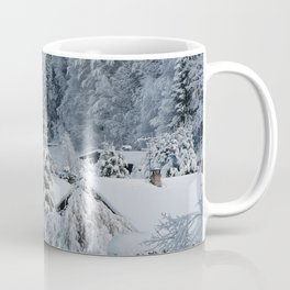 Winter in Alpine Village-1 Coffee Mug