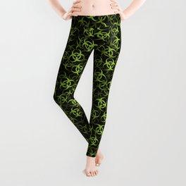 Biohazard (green on black) Leggings