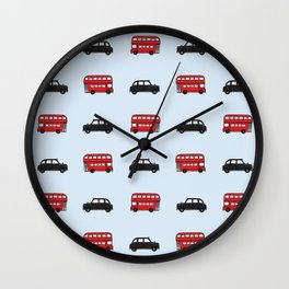 London Buses and Taxis Wall Clock