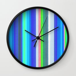Vertical Colored Lines - Soft Cold Colors Wall Clock