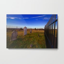 To the grave Metal Print