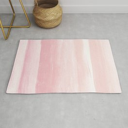 Blush Watercolor Abstract Minimalism #1 #minimal #painting #decor #art #society6 Rug