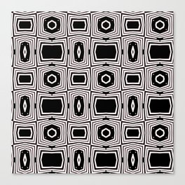 Black and White Pattern by Saribelle Rodriguez Canvas Print