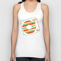 record Tank Tops featuring Retro Record by Sabrina
