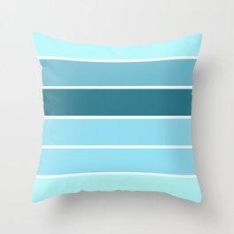 Aqua Turquoise Teal Stripes Throw Pillow
